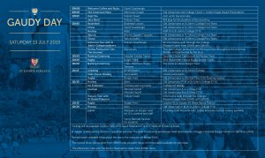 Gaudy Day Programme 2019