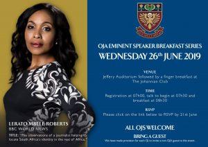 Eminent Speaker Breakfast - Lerato Mbele Roberts
